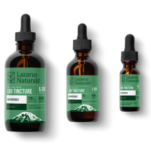 cbd tincture with 3 different options to choose from