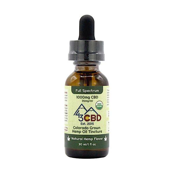 43 CBD USDA Certified Organic Hemp Oil 1000mg