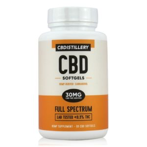 30 mg full spectrum cbd softgels by cbdistillery