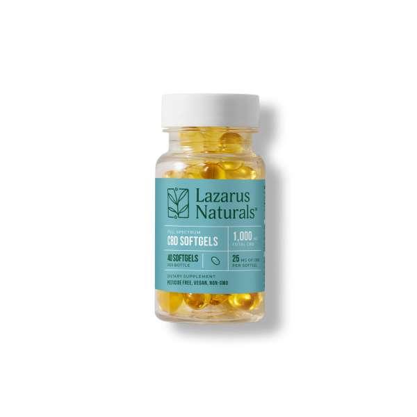 Lazarus Naturals 25mg Softgels