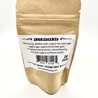 otherside hemp chill chews 10 pack ingredients