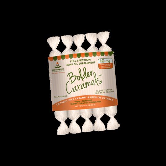 10 mg full spectrum cbd caramels by restorative botanicals