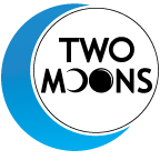 Too Moons Logo. Link to homepage